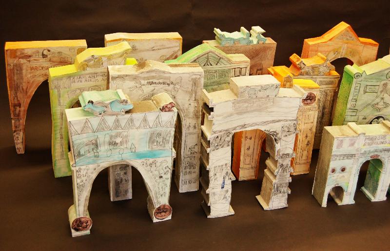 3D modely víťazných oblúkov pre ZUŠ Mozartova 10, Trnava.